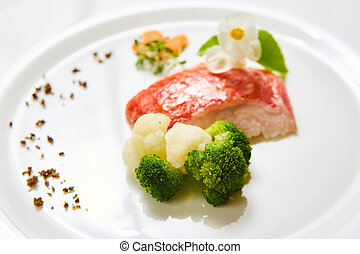 vegetable., 浅い, 赤 タイ, dof.