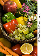 Vegetable and fruit basket