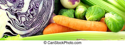 Vegetable banner, close up image