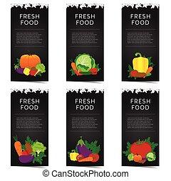 vegetable banner set illustration