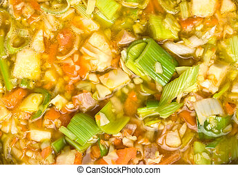 Vegetable Broth background - Vibrant Rustic vegetable and ...