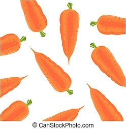 Vegetable carrot on white