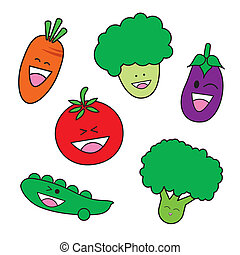 Vegetable cartoon 	Vegetable carto