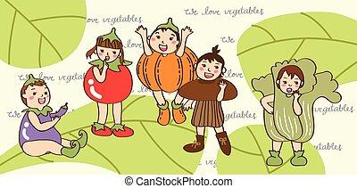 vegetable children