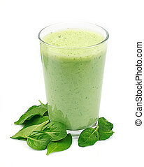Spinach smoothie - Vegetable cocktail. Spinach smoothie ...