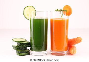 vegetable cocktail,drinks - isolated vegetables juice on...