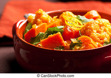 Vegetable Curry - Spicy indian vegetable curry with...