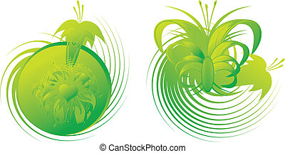 vegetable decorative pattern on a white background