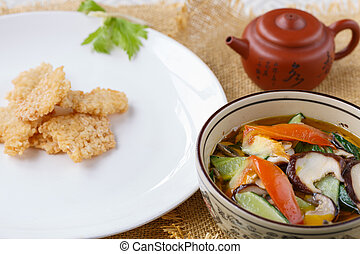 Vegetable dish, Chinese cooking
