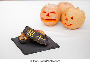 vegetable dish in coffin