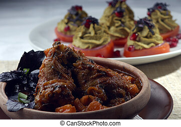 vegetable dish looks beautiful in a deep dish