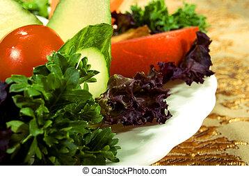 Vegetable dish - Salad made of fresh vegetables