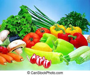 Vegetable display.