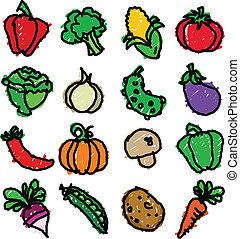 Vegetable Doodles