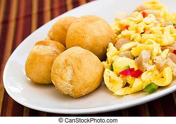 Vegetable Dumpling with Saltfish - Caribbean style vegetable...