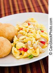 Vegetable Dumpling with Saltfish