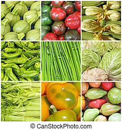 vegetable farmer market collage