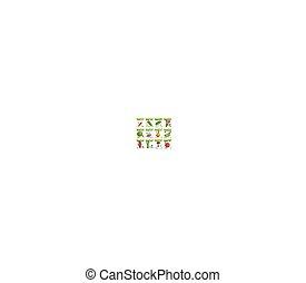 Vegetable food on card or sale tag, labels - Sale tag or...