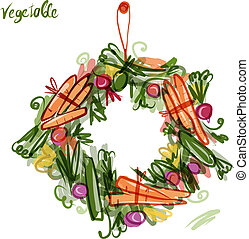 Vegetable frame, sketch for your design