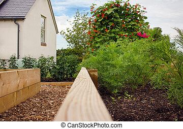 Vegetable Garden Beds & House.