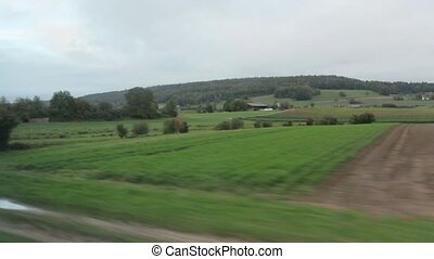 Vegetable Gardens From Train Window - Vegetable gardens from...