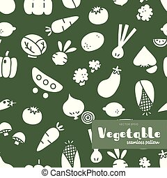 Vegetable Hand draw , Seamless pattern vector