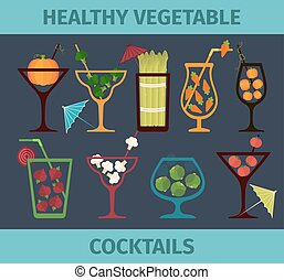 Vegetable healthy cocktails.