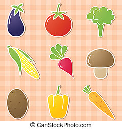 Vegetable icons.
