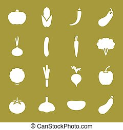 Vegetable icons set.