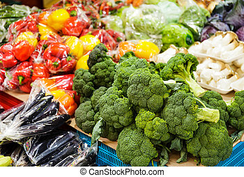 Vegetable in market stall