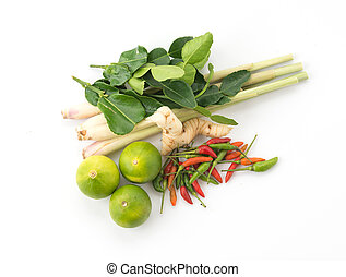 vegetable ingredients for tom yum