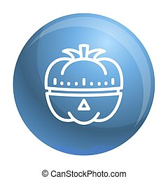 Vegetable kitchen timer icon, outline style