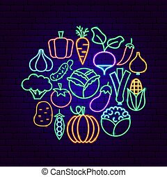 Vegetable Neon Concept