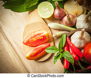 vegetable of food for tom yum element