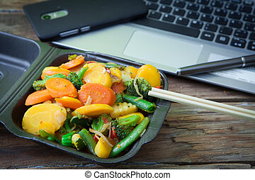Vegetable oriental food
