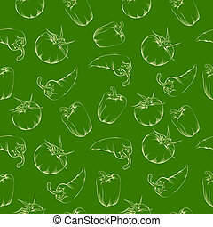 Vegetable pattern - green.  illustration.