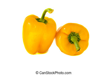 paprika yellow healthy food nutrition isolated