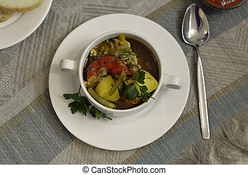 vegetable ragout in a bowl