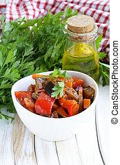 vegetable ragout (ratatouille) paprika, eggplant and carrots