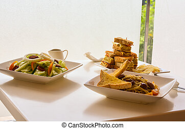 Vegetable salad, clubhouse meal - Photograph image of...