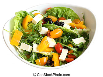 vegetable salad in bowl isolated