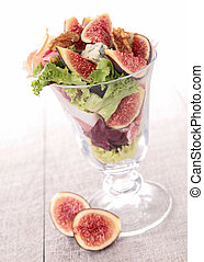vegetable salad in glass