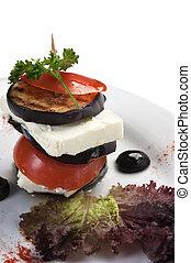Vegetable Salad isolated on white background