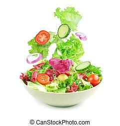 vegetable salad isolated