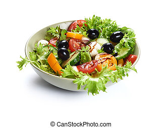 vegetable salad isolated on white