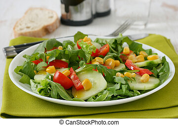 Vegetable salad on a plate
