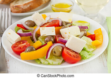vegetable salad on the plate
