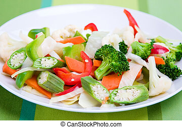 Vegetable Salad - Vegetable salad greens made from broccoli...