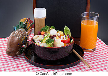 Vegetable Salad - Vegetable salad with oriental sesame salad...
