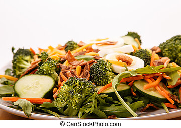 Vegetable Salad with Bacon